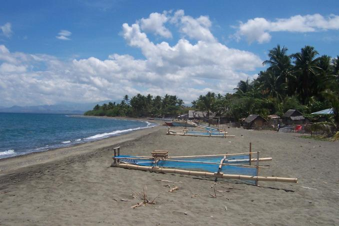 The starting point beach at Patnongon, Antique