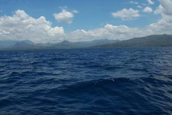 #1: Looking East to Panay Island 3.5 km away & the 11N 122E confluence at foreground