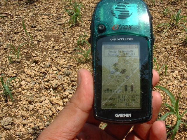 GPS reading at 11N 124E