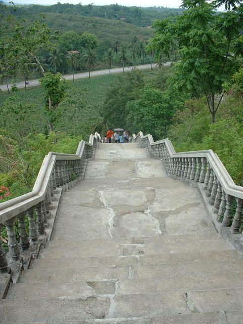 The stairs. Taken at 2/3rd of the way to the peak