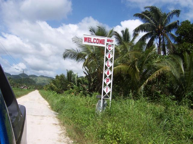 Signs to Barangay Calapi
