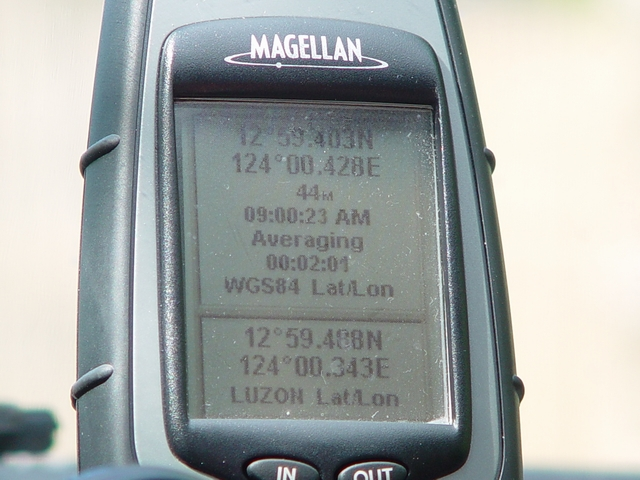 Actual GPS reading (WGS84) of the are where the picture was taken.