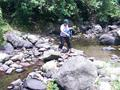 #8: Santah crossing one of the three streams about 200 meters to 13N 124E