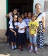 #10: The English teacher with pupils at Sorsogon Elementary School
