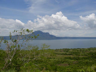 #1: View from confluence looking SSE towards Mt. Maculot (1,000m / 3,281ft), itself an ancient volcano. Prehistoric Taal Volcano's rim trails off to the right of the background.