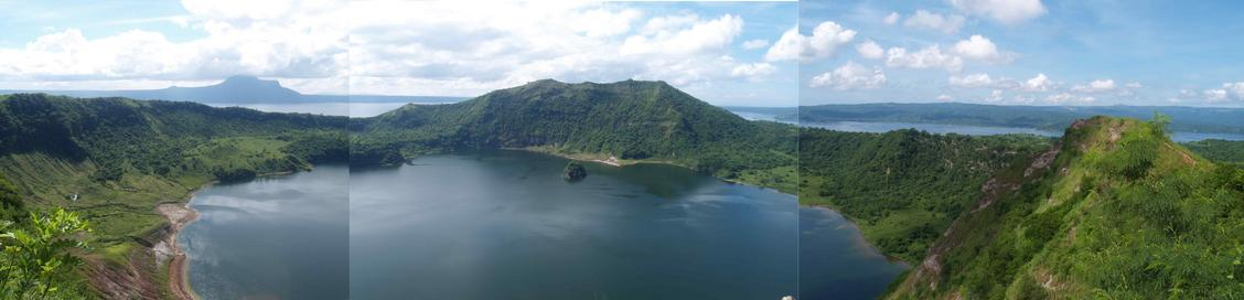 Panorama of Taal lake