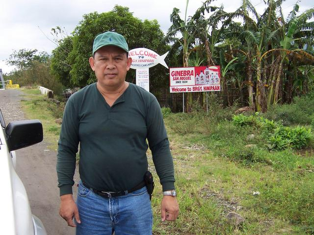 Rudy at Boundary of Barangay Hinipaan.