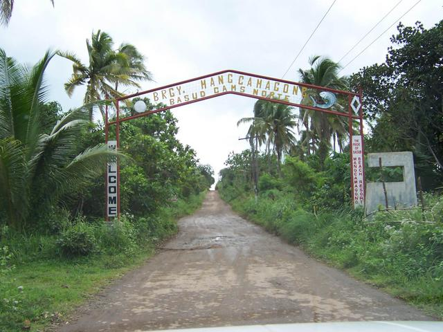 Entering Barangay Mangcamagong, 10 km from Hinipaan.