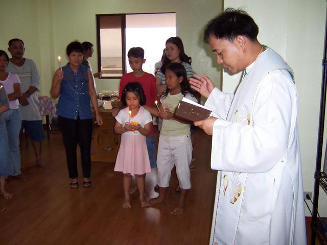 House Blessing in Calbayog, Samar two days after the attempt.