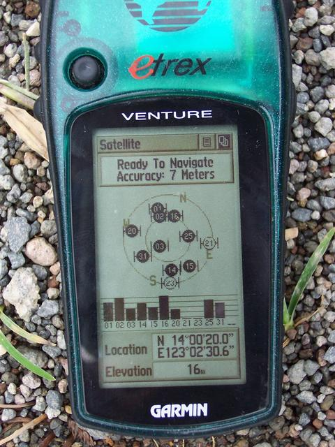 GPS reading about 4.5 km. away