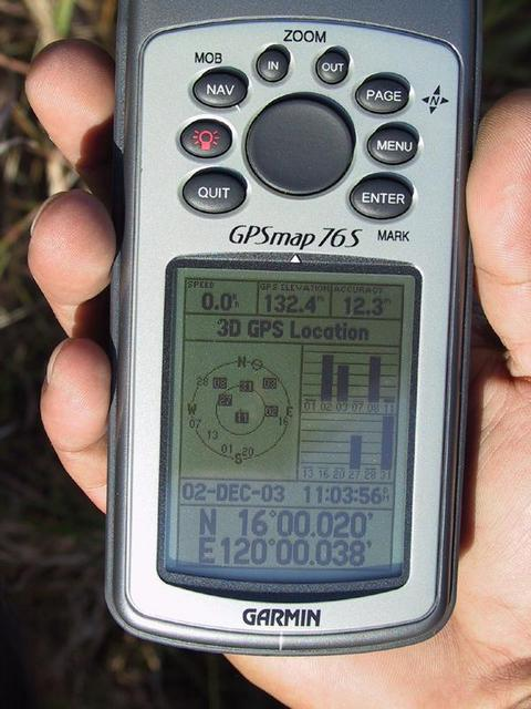 GPS shot, taken approximately 70 meters from confluence point