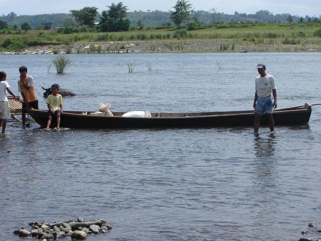 Pole Boat used to cross the river