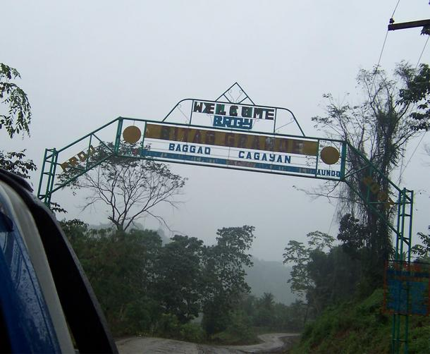 Arc sign marking entrance to Baggao town.