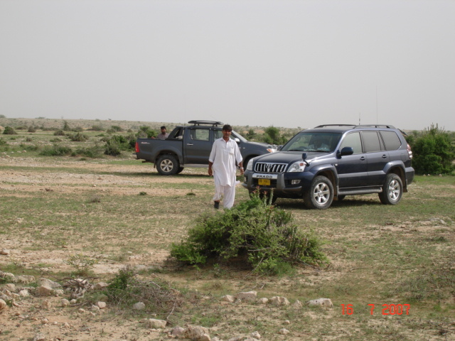 Ayoob and Asghar with Vehicles near confluence point