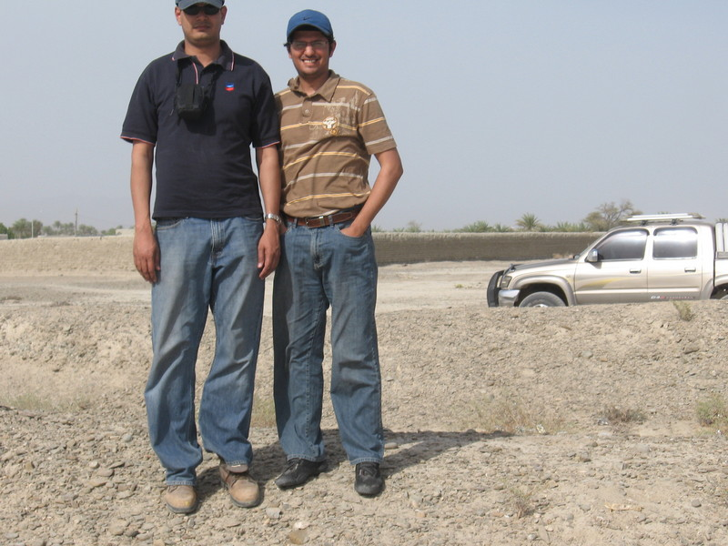 Myself (L) and Faisal at the Point
