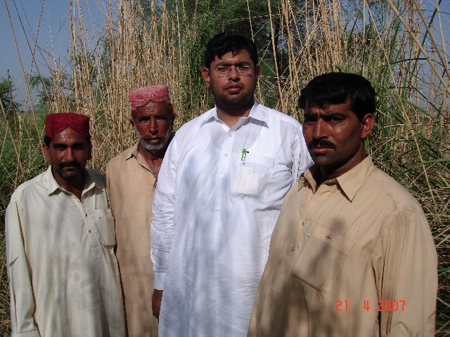 My son Ahmed with locals