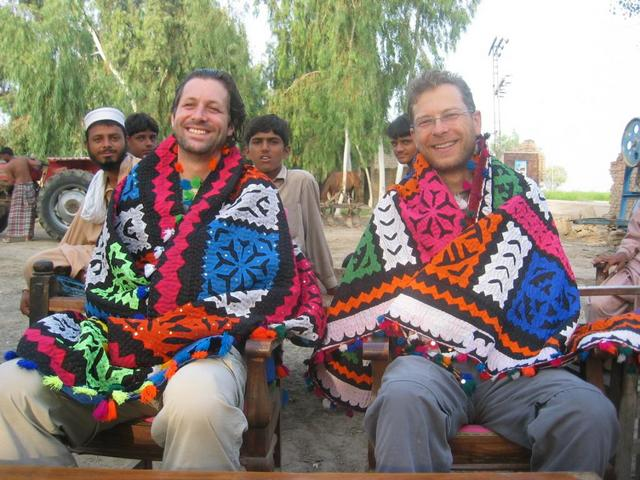 Joko and Rainer with the Blankets