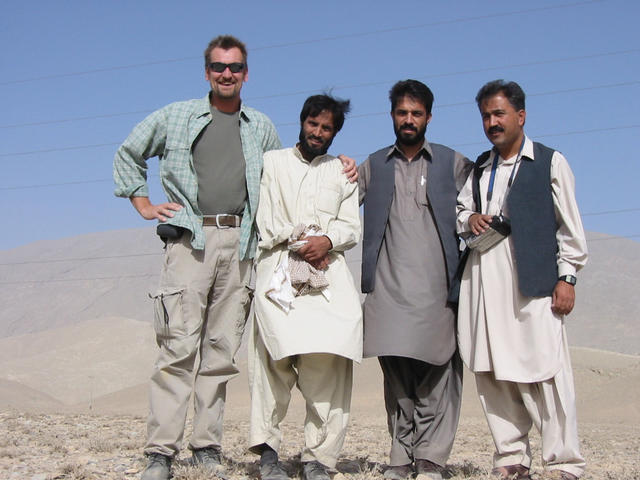 From Left. Geof Thorpe-Willett, Dour Mohammad, Jamil Karzai, Ayub Tareen