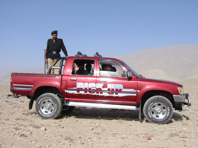 Our 4WD, complete with Pakistani Police guard