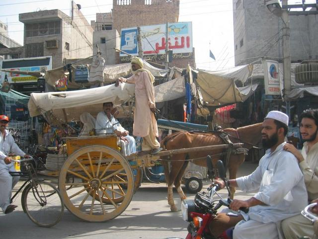 A busy Street in Multan