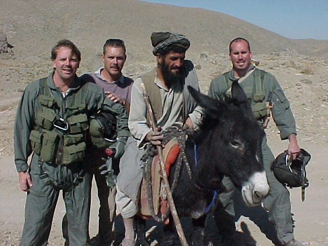 (L to R) Mike, Jay, local man, local donkey & Jason
