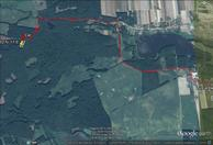 #11: My track on the satellite image (© Google Earth 2013) -