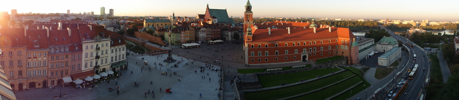 Wonderful Warsaw in the sunset