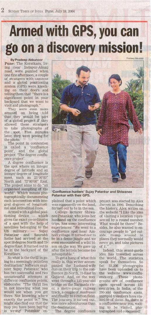 Sunday Times of India article