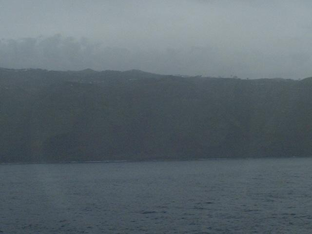 The steep-to west coast of Madeira