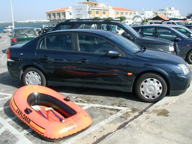 My rental car and my Rubber Raft