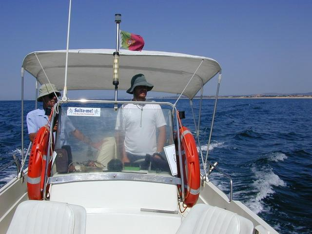 The skipper Augusto and his boat