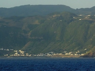 #1: Santa Maria, the village of São Lourenço seen from the Confluence toward WSW