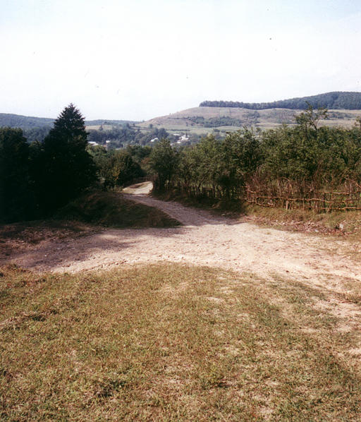 The road from Titesti to the confluence