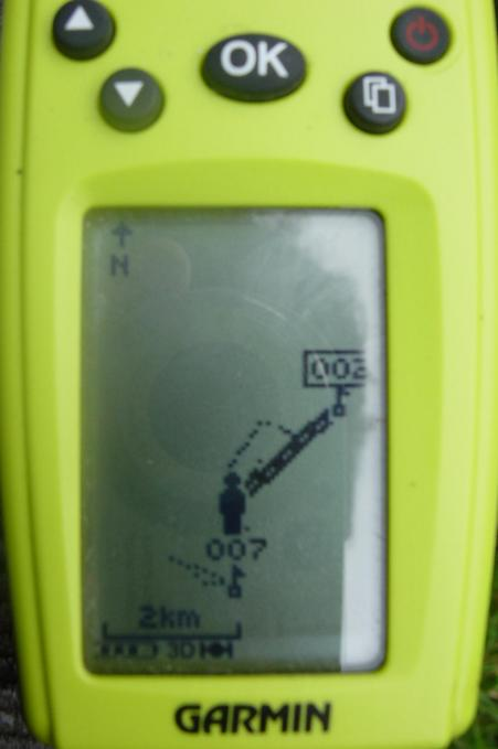 Photo of GPS readout