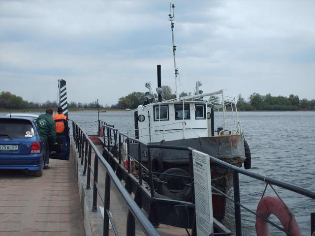 Barge-and-tug ferry on the way home