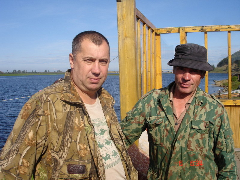 Vladimir and boatman Valery Pestov