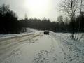 #5: South view and my footprints on snow