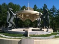 #7: Monument for the geographic center of the former Soviet Union in Novosibirsk