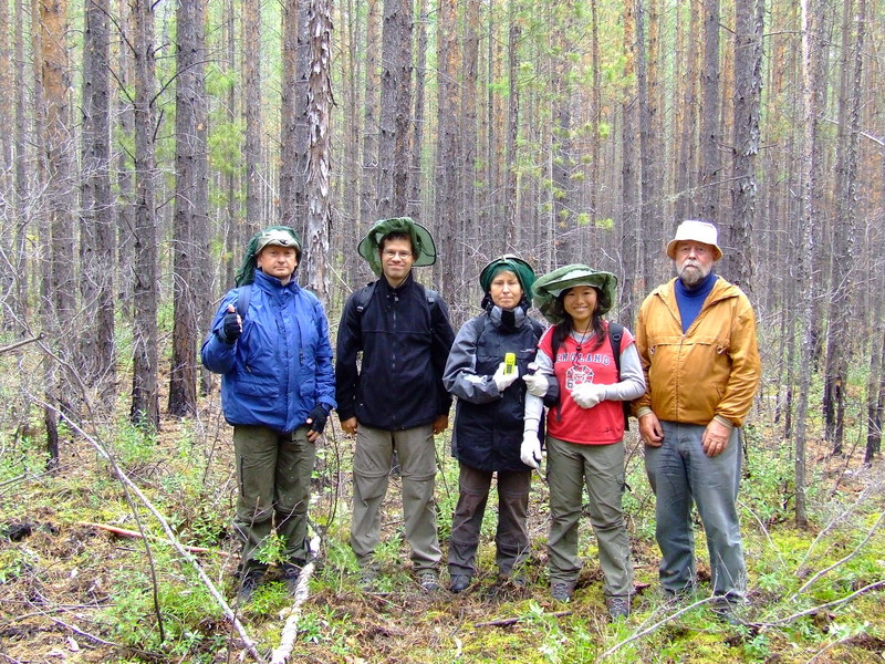 The expedition team (from right to left): Andreas, Yi-Chun, Regina, Oliver, Genadi