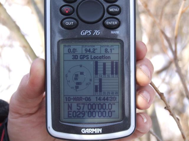 GPS receiver at CP
