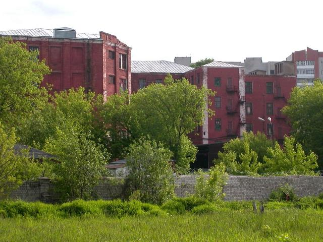 View of Confluence point at territory of Textile Plant by name Samoylov