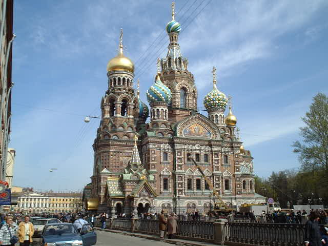 "the ""Cathedral on the Blood"" at Mikhailovskiy Garden"