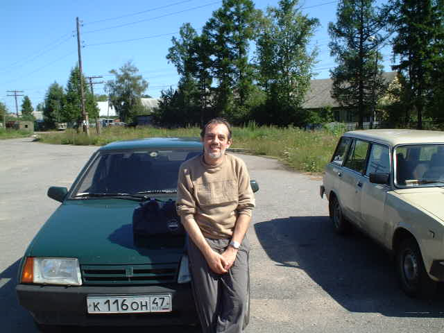 Captain Peter and his Lada borrowed from a friend