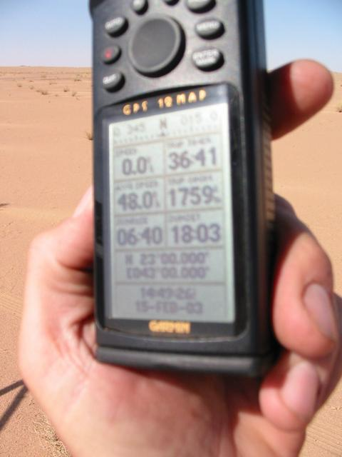 The GPS record.