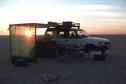 #7: 23N 52E, Sunset on camp.
