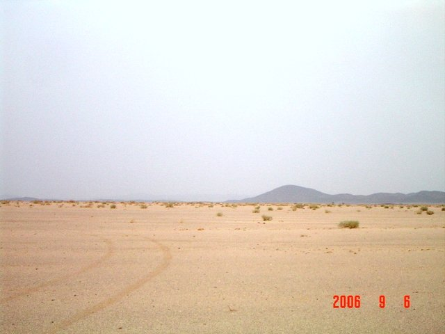 Southeast view, Jabal Abū Hasāk shown