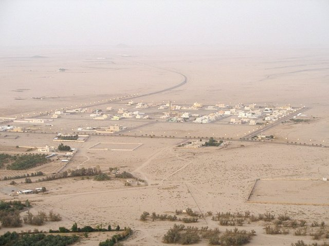 al-Ša`rā' town from up Thahlan mountain