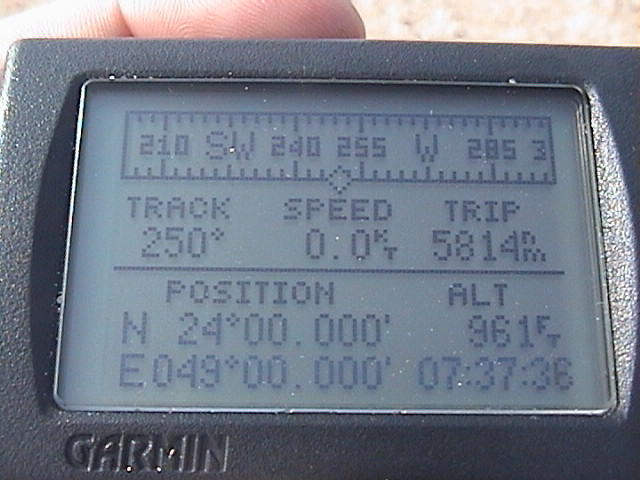 The GPS proof that we've been there!