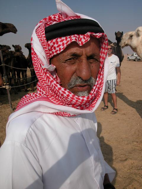Jabr, our host who gave us a nice welcome at the Bedouin camp!