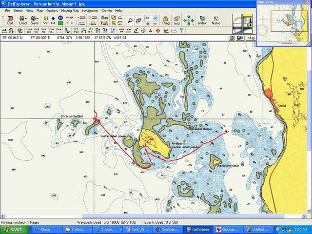 ShipTrack posted on Nautical Chart (OziExp, Garmin V)